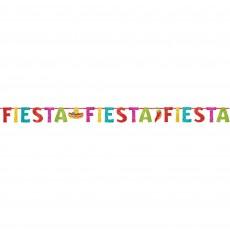 Mexican Fiesta Glittered Letter Banner
