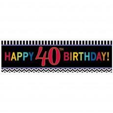 40th Birthday Chevron Celebration Giant Banner