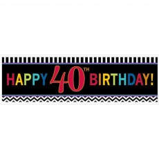 Chevron Design Celebration 40th Birthday Banner