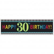 30th Birthday Chevron Celebration Giant Banner