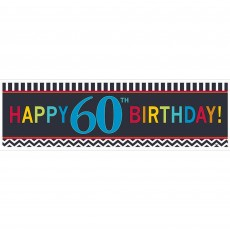 Chevron Design Celebration 60th Birthday Banner