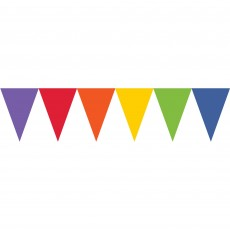 Rainbow Paper Pennant Banner