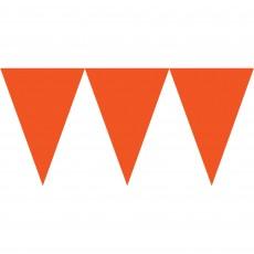 Orange Peel Paper Pennant Banner