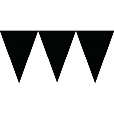 Black Jet Paper Pennant Banner