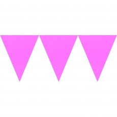 Pink Bright Paper Pennant Banner