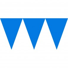 Blue Bright Royal Paper Pennant Banner