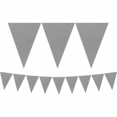 Silver Paper Pennant Banner