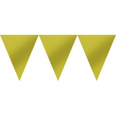 Gold Pennant Banner