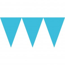 Blue Caribbean Paper Pennant Banner
