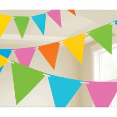 Multi Colour ed Paper Pennant Banner