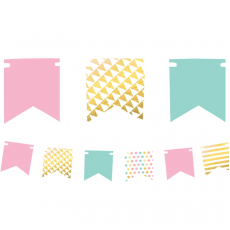 Pastel Celebration Mini Foil Pennant Banner