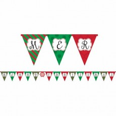Christmas Glossy Paper Pennant Banner