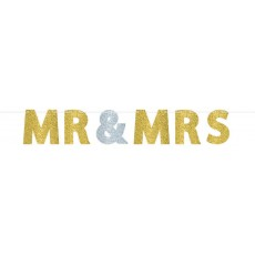 Wedding Glitter Paper Banner