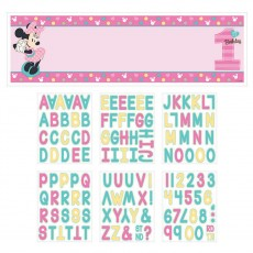 Minnie Mouse 1st Birthday Fun To Be One Personalized Giant Banner 1.6m x 50.8cm