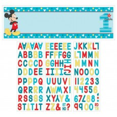 Mickey Mouse 1st Birthday Fun To Be One Personalized Giant Banner 1.6m x 50.8cm