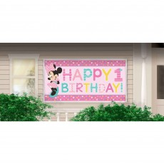 Minnie Mouse 1st Birthday Fun To Be One Horizontal Giant Sign Banner