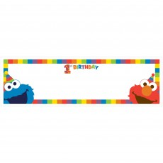 Elmo Turns One Personalize It Giant Banner