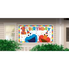 Elmo Turns One Giant Horizontal Banner 1.6m x 85cm