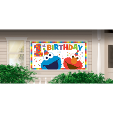 Elmo Turns One Giant Horizontal Banner
