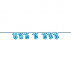 Baby Shower - General Blue Onesie Clothesline Banner