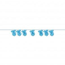 Blue Baby Shower - General Onesie Clothesline It's a Boy Banner 3.65m
