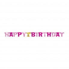 Girl's 1st Birthday Jointed Letter Banner