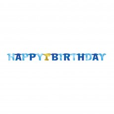 Boy's 1st Birthday Jointed Letter Banner