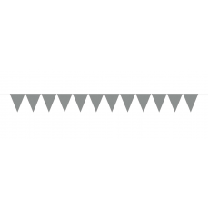 Silver Mini Paper Pennant Banner