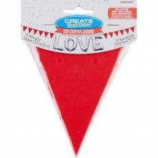Red Apple Mini Paper Pennant Banner