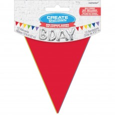Multi Colour Mini Paper Pennant Banner