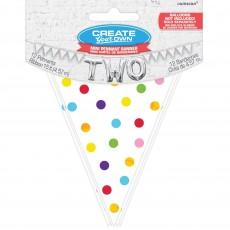 Dots Rainbow  Mini Paper Pennant Banner