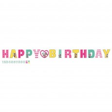 Minnie Mouse Happy Helpers Jumbo Add An Age Letter Banner 3.2m x 25cm