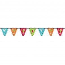 Mexican Fiesta Mini Paper Flag Pennant Banner