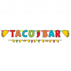 Mexican Fiesta Cardboard TACO BAR Banners Pack of 2