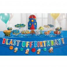 Blast Off Banner Decorating Kit