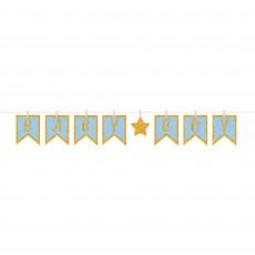 Baby Shower - General Glittered Clothespin Baby Boy Banner 16cm x 3.65m