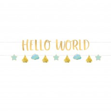 Oh Baby Boy Letter Hello World! Banners 1.7m Pack of 2