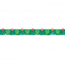 Hawaiian Luau Party Decorations - Banner Tropical Jungle Fringe
