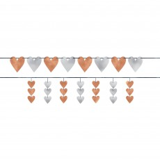 Bridal Shower Navy Bride Hearts Banners 3.65m Pack of 2