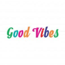 Disco & 70's Good Vibes Felt Letter Banner 15cm x 1.67m