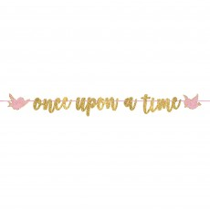 Disney Princess Once Upon A Time Glittered Ribbon Letter Banner