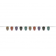 Halloween Day of the Dead Sugar Skull Garland