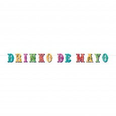 Mexican Fiesta Party Decorations - Banner Letter Drinko De Mayo