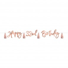 Blush Birthday Party Decorations - Banner Customize It