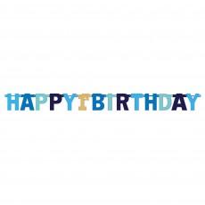 Boy's 1st Birthday Jumbo Foil Letter Banner