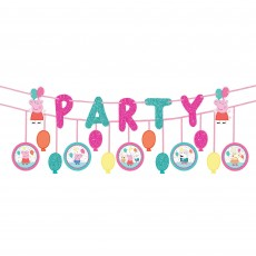 Peppa Pig Confetti Party Ribbon Banners