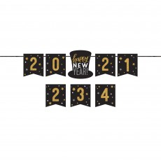 New Year Personalized Letter Banner 1.98m