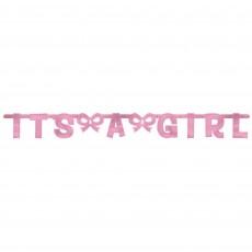 Pink Baby Shower - General Foil It's a Girl Banner 140.2cm x 15.8cm