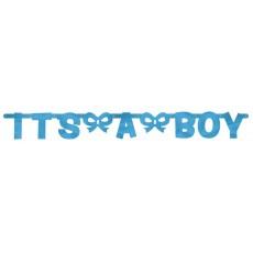 Baby Shower - General Foil It's a Boy Banner 140.2cm x 15.8cm