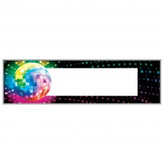 Disco & 70's Disco Fever Personalize It Giant Banner